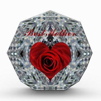 Red Rose and crystals Award