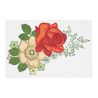 Red Rose and Daisies Placemat