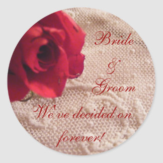Red Rose and Lace Envelope Seals