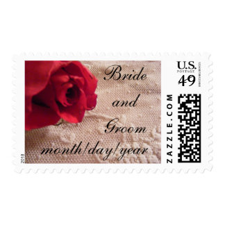 Red Rose and Lace Stamp