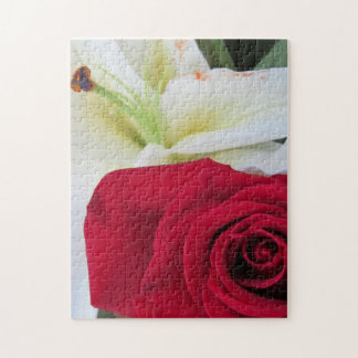 Red Rose and Lily Jigsaw Puzzles