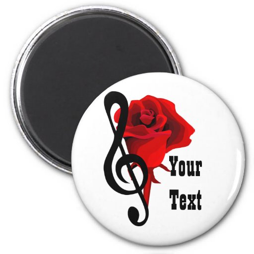 Red Rose and Love Music Magnet