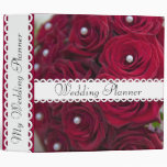 Red Rose and pearl Floral binder