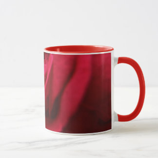 Red Rose and Water Drops Mug