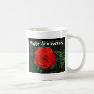 Red Rose Anniversary Classic White Coffee Mug