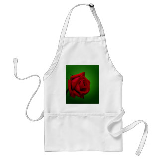 red rose adult apron