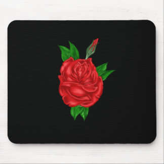 Red Rose Art Mouse Pad