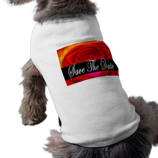 Red Rose Art Save The Date - Multi Dog Tee Shirt