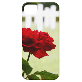Red Rose at Cemetery iPhone SE/5/5s Case