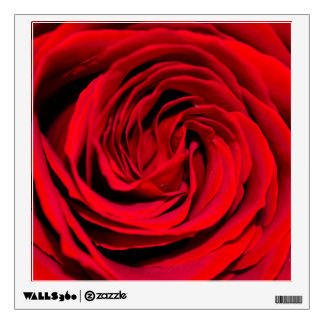 Red Rose Background Wall Sticker