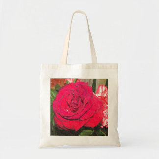 Red Rose Canvas Bag