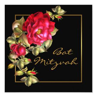 Red Rose Bat Mitzvah Card