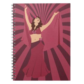 Red Rose Belly Dancer Notebook