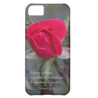 Red Rose Bible Verse about Hope Romans 12 12 iPhone 5C Cover