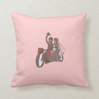 Red Rose Biker Wedding Products Pillows