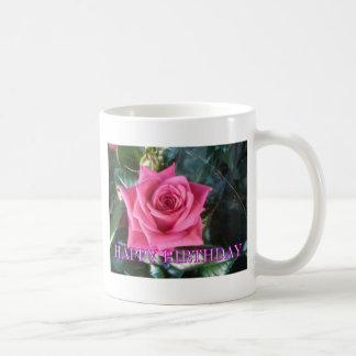 Red rose birthday classic white coffee mug