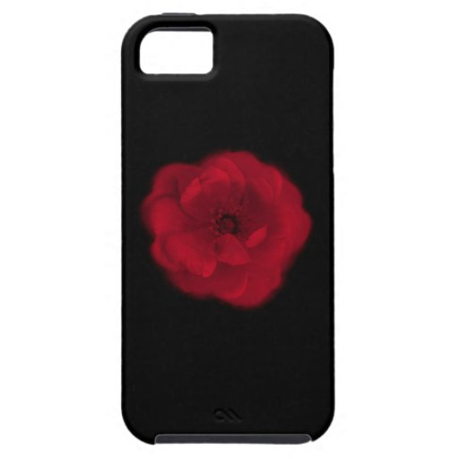 Red Rose. Black Background. iPhone 5 Case