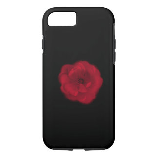 Red Rose. Black Background. iPhone 7 Case