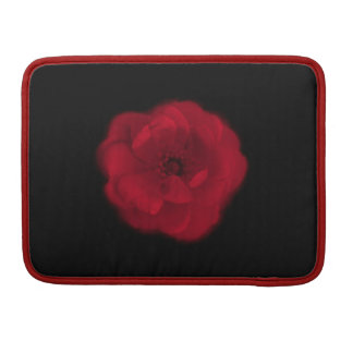 Red Rose. Black Background. Sleeves For MacBook Pro