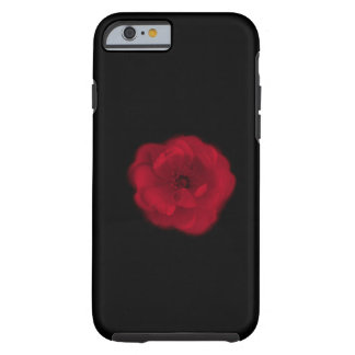 Red Rose. Black Background. Tough iPhone 6 Case