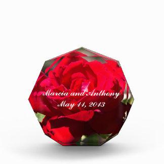 Red Rose Blossom Acrylic Award