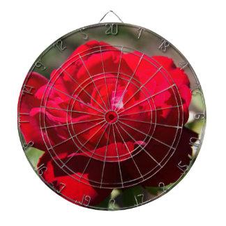 Red Rose Blossom Dartboards