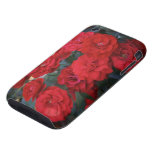Red Rose Blossoms - flower photography iPhone 3 Tough Case