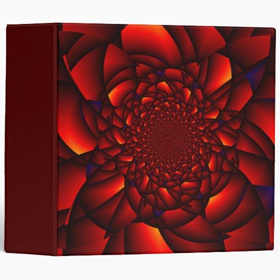 Red Rose Blue 3 Ring Binder