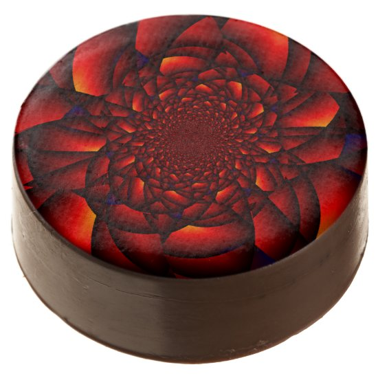 Red Rose Blue Chocolate Covered Oreo