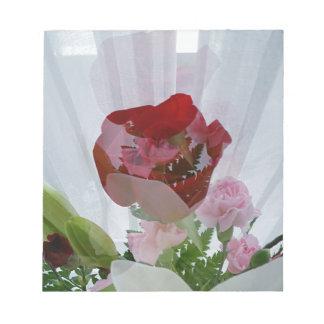Red Rose Botanical Overlay Personalise Design Notepad