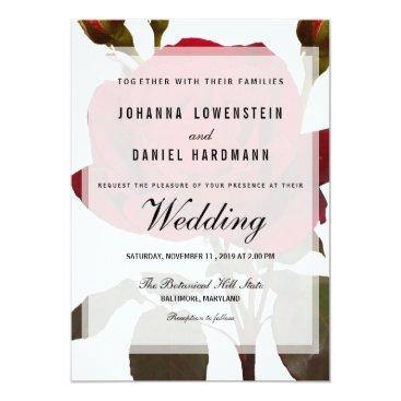 wedding_trends_now Red Rose Botanical Wedding Modern Card