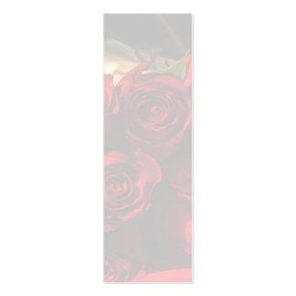 """""""Red Rose Bouquet"""" - Bookmark Business Card Templates"""