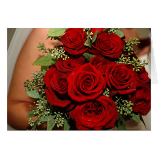 Red Rose bouquet Greeting Card