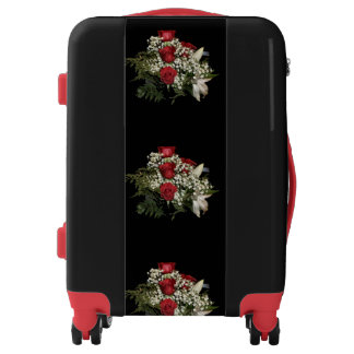 Red Rose Bouquet Luggage