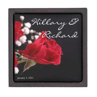 Red Rose Bouquet Personal Wedding Premium Gift Box
