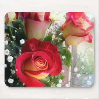 Red Rose Bouquet Photography Mouse Mat Mouse Pad