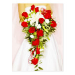 Red Rose Bridal Bouquet Post Cards