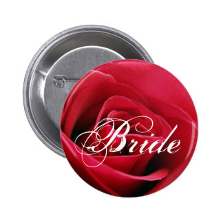 red rose, Bride Button