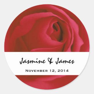 Red Rose Bride Groom Wedding Sticker V010