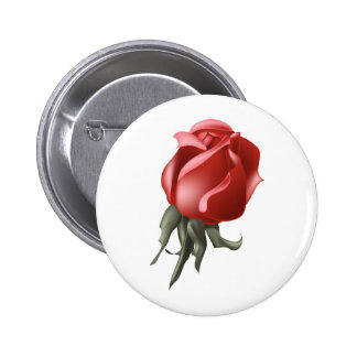 Red Rose Bud Button