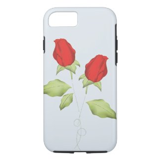 Red Rose Bud Cell Phone Case
