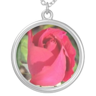 Red Rose Bud necklace