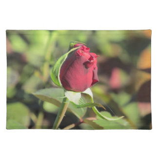Red Rose Bud Placemat