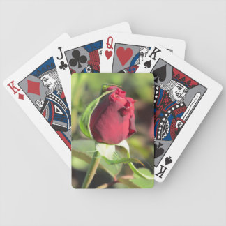 Red Rose Bud Playing Cards