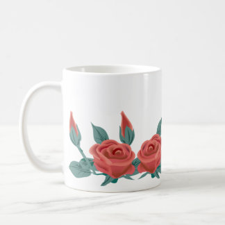 Red Rose Buds Coffee Mug