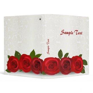 Red Rose Business Binder binder