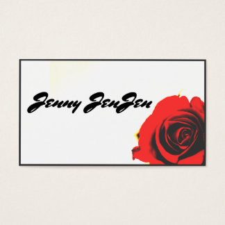 Red Rose Business Card