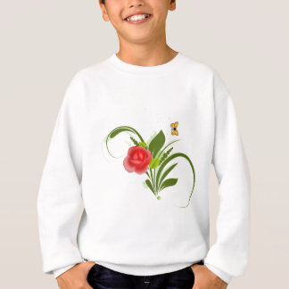 Red Rose+Butterfly Sweatshirt