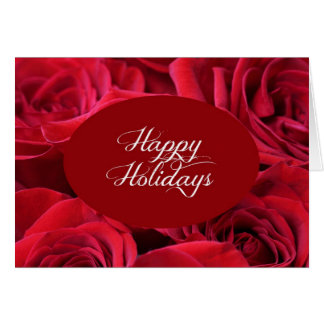 Red Rose Christmas Photo Card