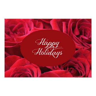 Red Rose Christmas Photo